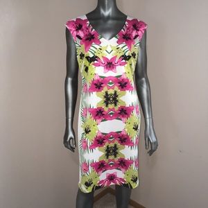 INC flower print shift dress